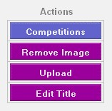 image management action buttons